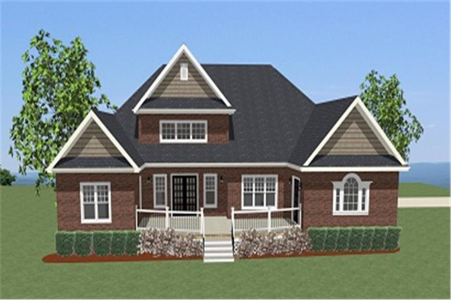 189-1074: Home Plan Rear Elevation