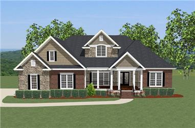 4-Bedroom, 2948 Sq Ft Traditional House Plan - 189-1074 - Front Exterior