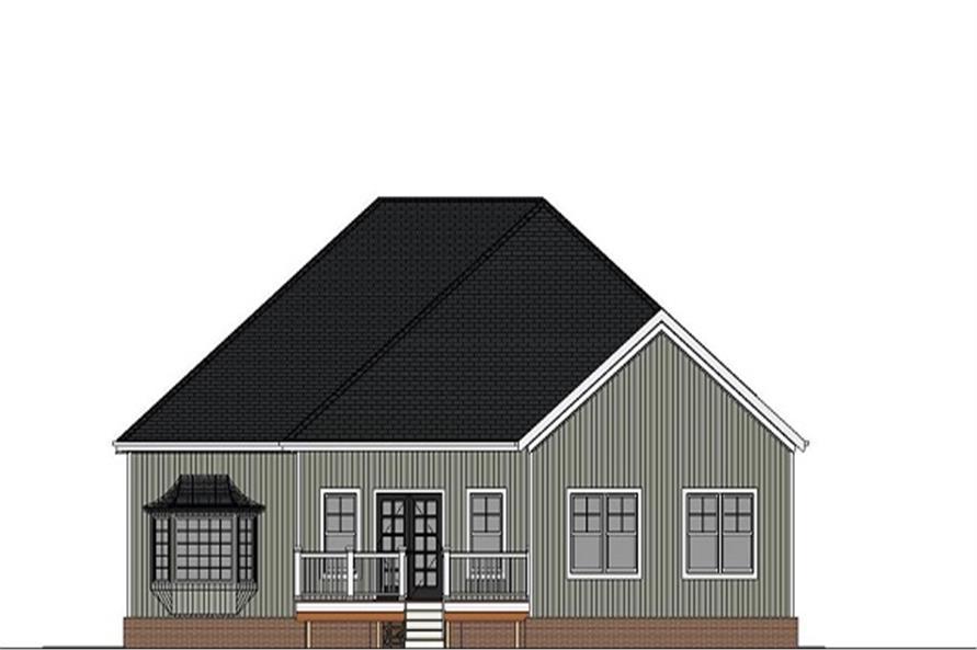 189-1076: Home Plan Rear Elevation