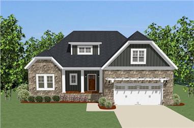 3-Bedroom, 2115 Sq Ft Craftsman Home Plan - 189-1076 - Main Exterior