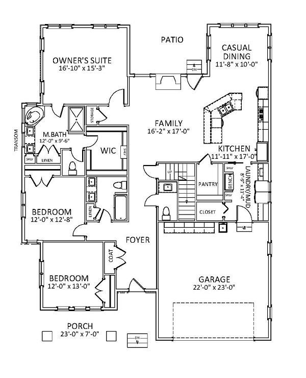Craftsman house plan 189 1077 3 bedrm 2140 sq ft home for 1077 marinaside crescent floor plan