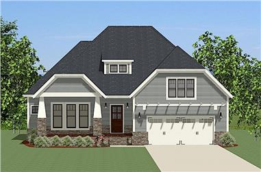 3-Bedroom, 2140 Sq Ft Craftsman Home Plan - 189-1077 - Main Exterior