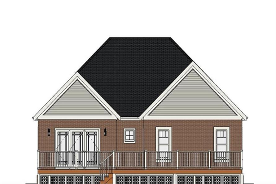 189-1078: Home Plan Rear Elevation