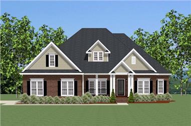 3-Bedroom, 2594 Sq Ft Ranch Home Plan - 189-1079 - Main Exterior