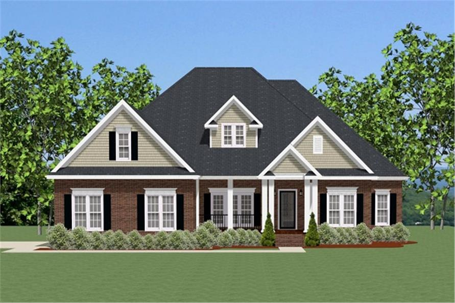 Front elevation of Ranch home (ThePlanCollection: House Plan #189-1079)