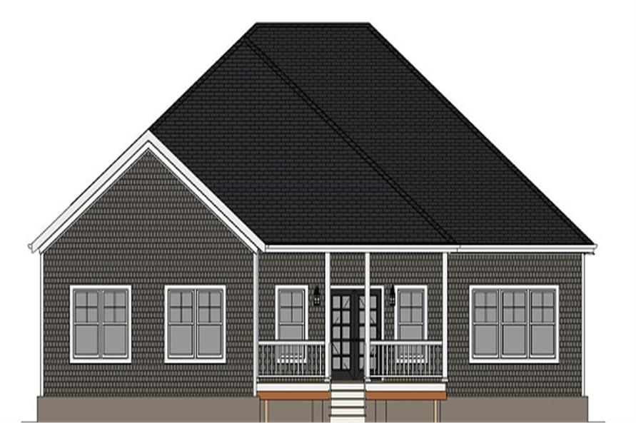 189-1082: Home Plan Rear Elevation