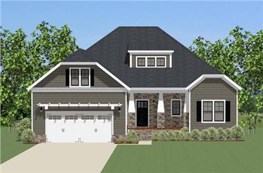 3-Bedroom, 2207 Sq Ft Craftsman Home Plan - 189-1082 - Main Exterior