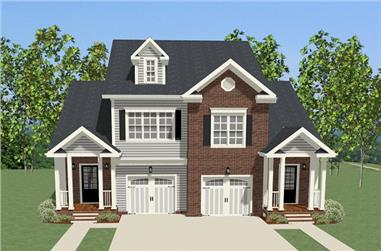 2-Bedroom, 2815 Sq Ft Colonial House Plan - 189-1083 - Front Exterior