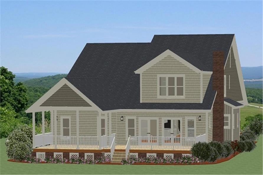 189-1084: Home Plan Rendering-Deck