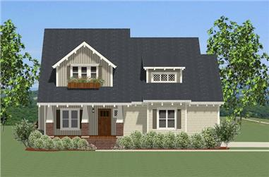 4-Bedroom, 3080 Sq Ft Craftsman House Plan - 189-1084 - Front Exterior