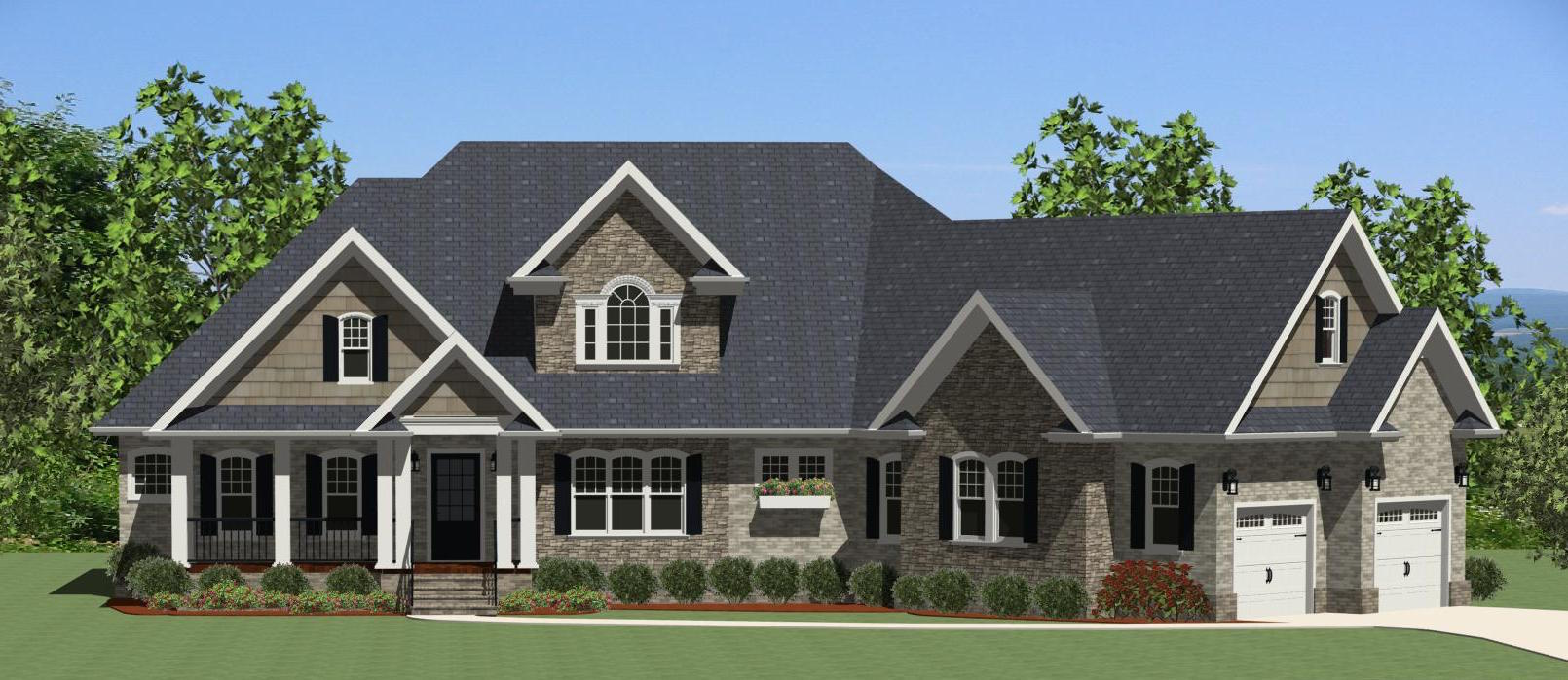 elevation of country home theplancollection house plan 189 1086 on house plans under 3000 square feet