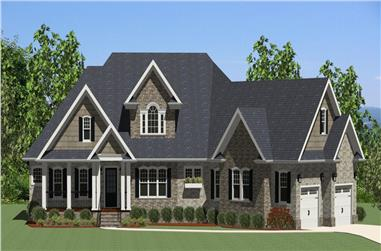 3-Bedroom, 2548 Sq Ft Country Home Plan - 189-1086 - Main Exterior