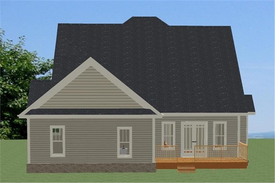 189-1087: Home Plan Rear Elevation