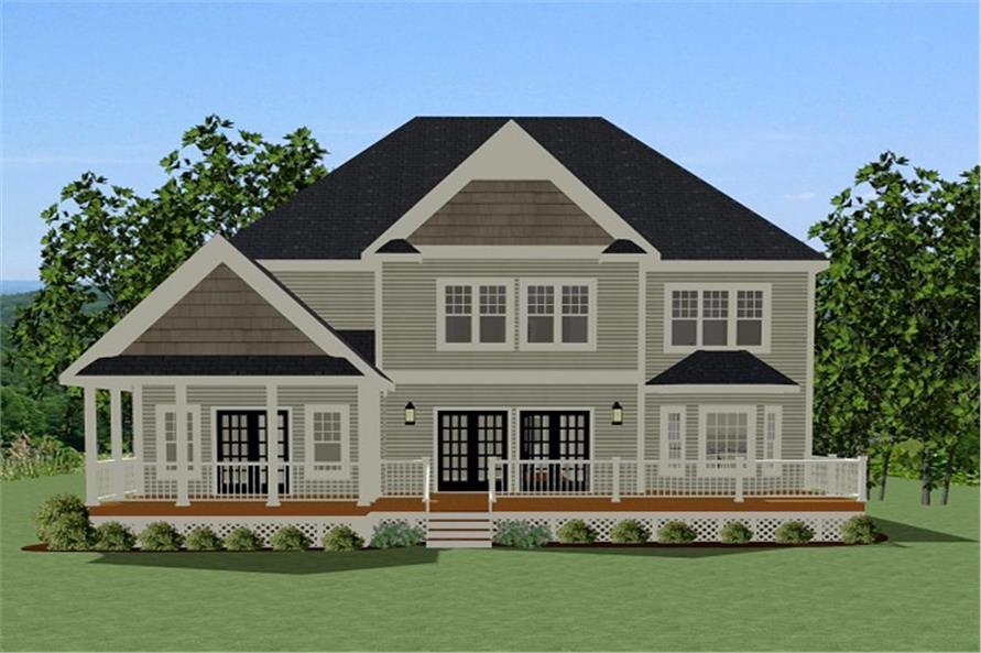 189-1088: Home Plan Rear Elevation