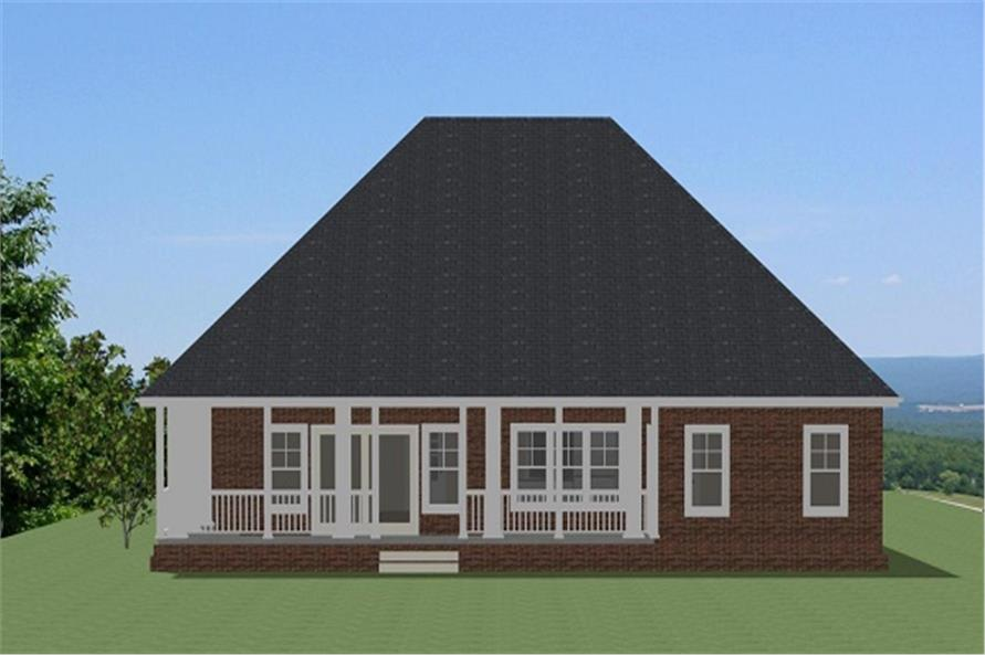 189-1091: Home Plan Rear Elevation