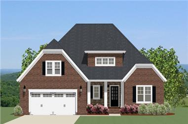 3-Bedroom, 2127 Sq Ft Ranch Home Plan - 189-1091 - Main Exterior