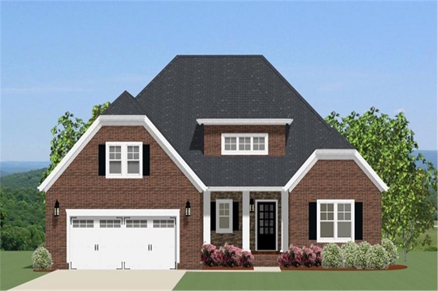 Front elevation of Ranch home (ThePlanCollection: House Plan #189-1091)