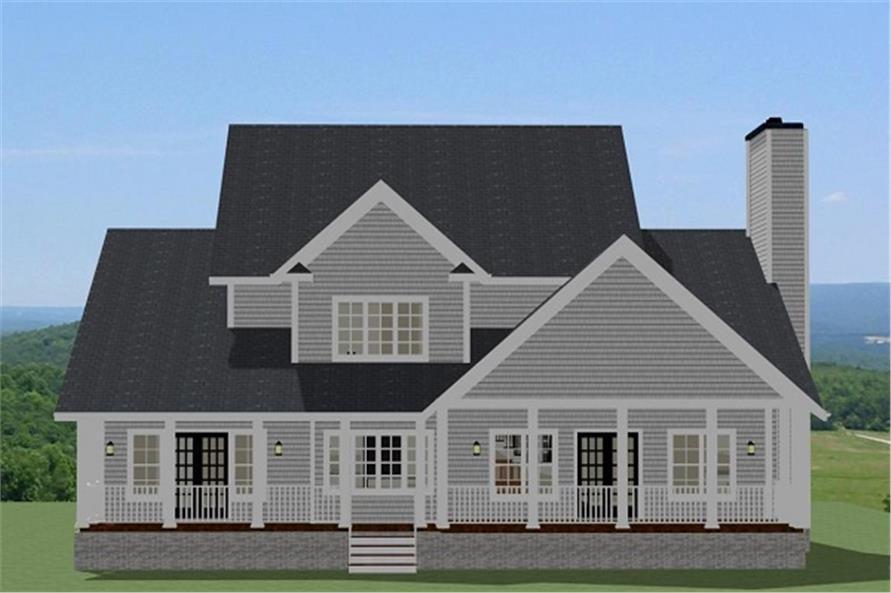 189-1092: Home Plan Rear Elevation
