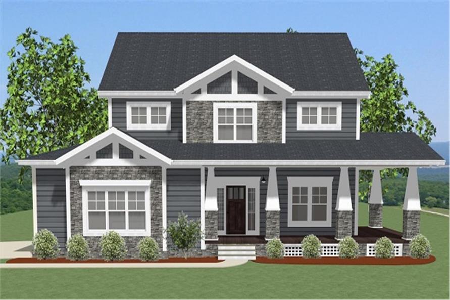 Home Plan Rendering of this 4-Bedroom,2988 Sq Ft Plan -189-1093