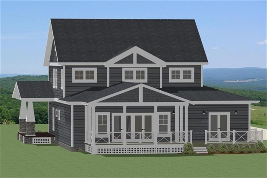 Home Plan Rendering of this 4-Bedroom,2988 Sq Ft Plan -2988