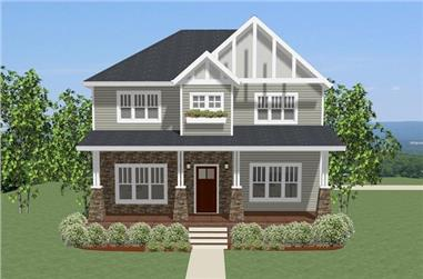 Front elevation of Traditional home (ThePlanCollection: House Plan #189-1094)