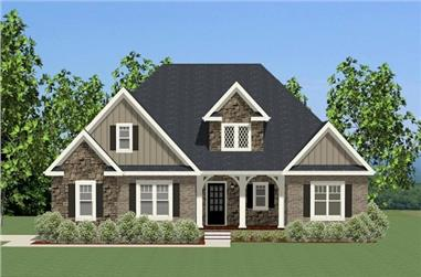 Front elevation of Traditional home (ThePlanCollection: House Plan #189-1095)