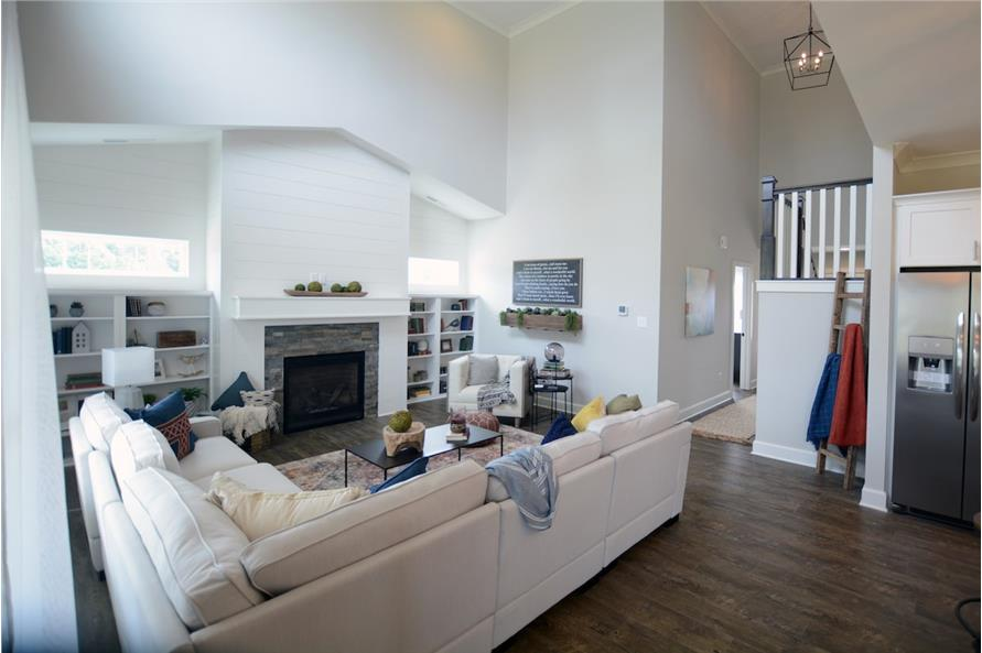 Family Room of this 4-Bedroom,3001 Sq Ft Plan -3001