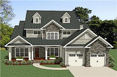 4-Bedroom, 3001 Sq Ft Country Home - Plan #189-1097 - Front Exterior