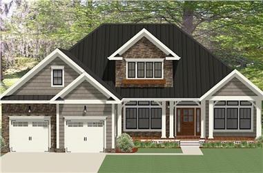 3-Bedroom, 2559 Sq Ft Craftsman Home Plan - 189-1098 - Main Exterior