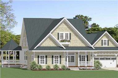 Front elevation of Cottage home (ThePlanCollection: House Plan #189-1101)