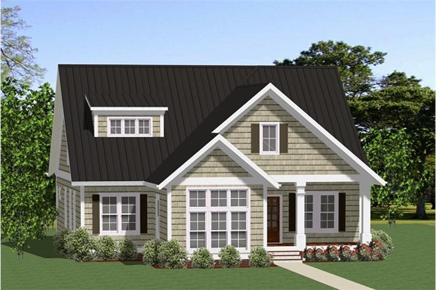 3-Bedroom, 1770 Sq Ft Cottage Home Plan - 189-1109 - Main Exterior