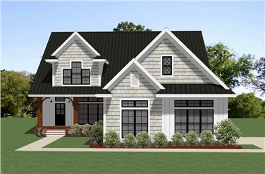 Front elevation of Cottage home (ThePlanCollection: House Plan #189-1111)