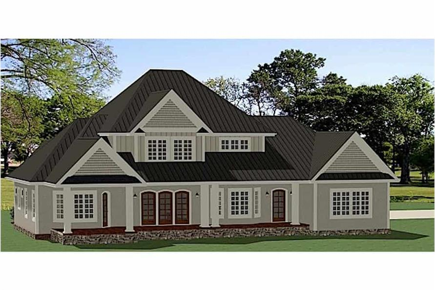 Home Plan Rendering of this 3-Bedroom,2910 Sq Ft Plan -2910