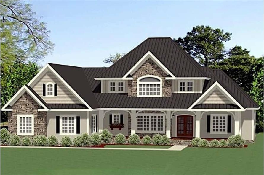 3-Bedroom, 2910 Sq Ft Southern Home - Plan #189-1113 - Main Exterior