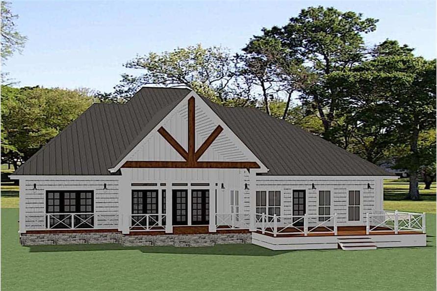 Home Plan Rendering of this 4-Bedroom,3441 Sq Ft Plan -3441