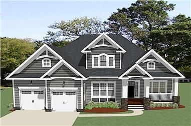 Front elevation of Ranch home (ThePlanCollection: House Plan #189-1115)