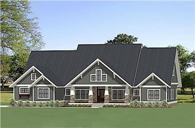 4-Bedroom, 3394 Sq Ft Ranch House Plan - 189-1116 - Front Exterior