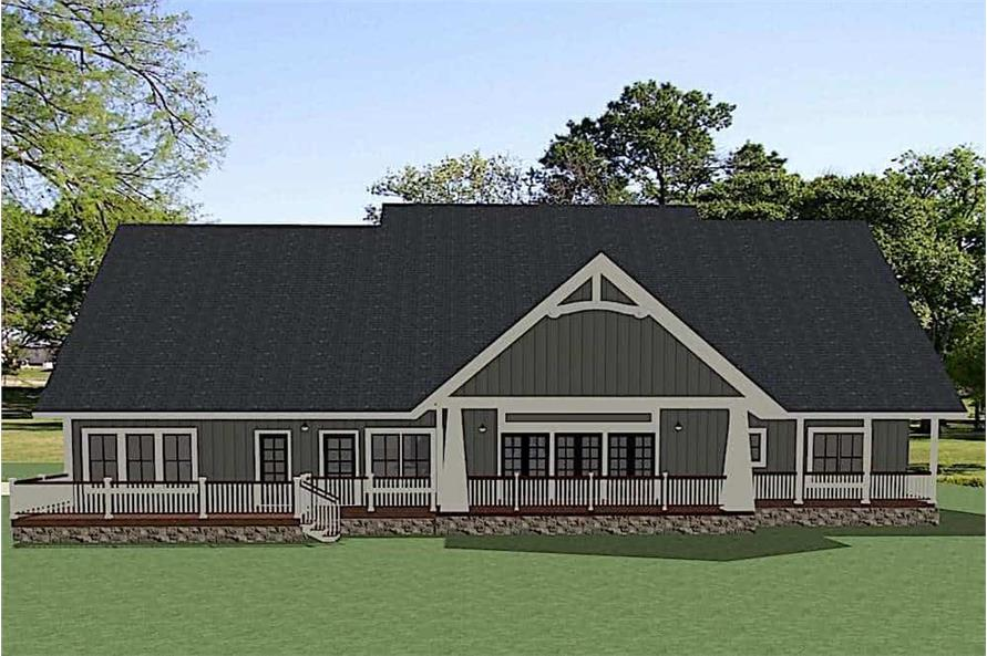 Home Plan Rendering of this 4-Bedroom,3401 Sq Ft Plan -3401