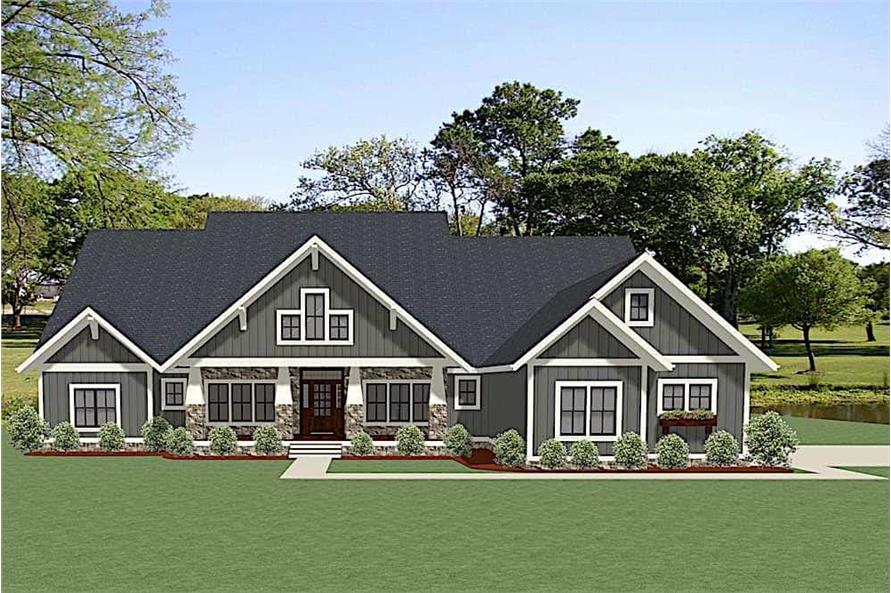 4-Bedroom, 3401 Sq Ft Ranch Home - Plan #189-1117 - Main Exterior