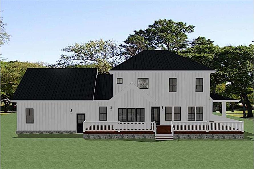 Home Plan Rendering of this 4-Bedroom,2737 Sq Ft Plan -2737
