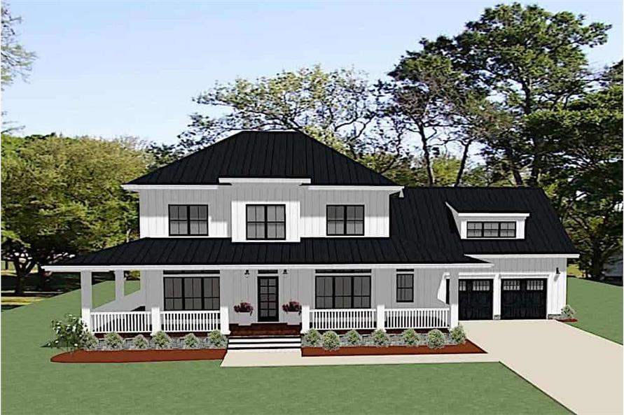 4-Bedroom, 2737 Sq Ft Farmhouse Home - Plan #189-1118 - Main Exterior