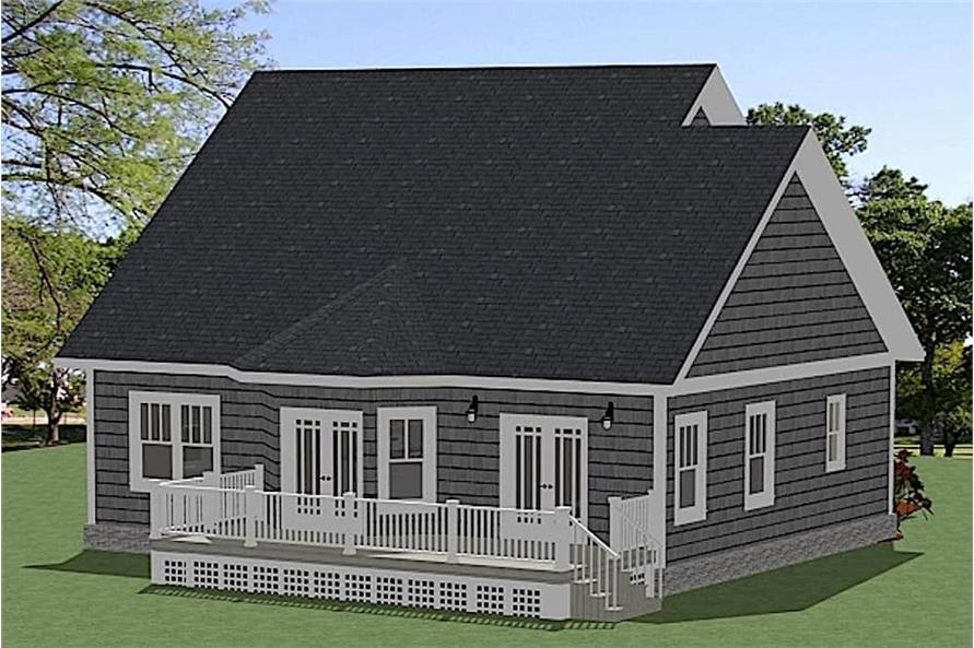 Home Plan Rendering of this 3-Bedroom,1490 Sq Ft Plan -1490
