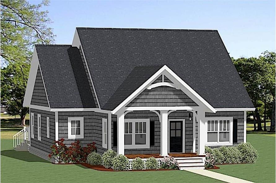 3-Bedroom, 1490 Sq Ft Cottage Home Plan - 189-1119 - Main Exterior