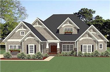 4-Bedroom, 3353 Sq Ft Farmhouse Home Plan - 189-1120 - Main Exterior
