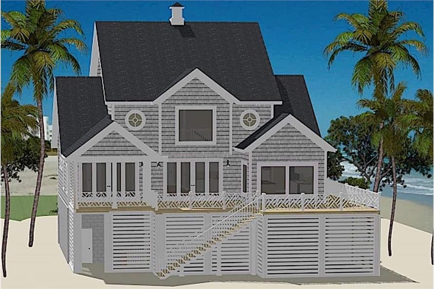 Home Plan Rendering of this 5-Bedroom,3162 Sq Ft Plan -3162