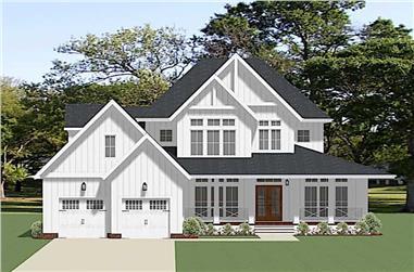 4-Bedroom, 3208 Sq Ft Farmhouse Home Plan - 189-1122 - Main Exterior