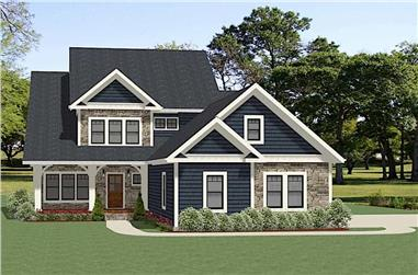 Front elevation of Farmhouse home (ThePlanCollection: House Plan #189-1124)