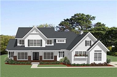 3-Bedroom, 2906 Sq Ft Farmhouse House Plan - 189-1125 - Front Exterior