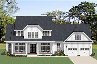 4-Bedroom, 3403 Sq Ft Farmhouse House Plan - 189-1128 - Front Exterior