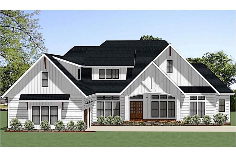 Home Plan Rendering of this 4-Bedroom,2847 Sq Ft Plan -2847